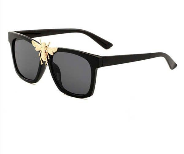 0239 new stylish big bee decorative sunglasses trendy big box sunglasses stylish glasses1