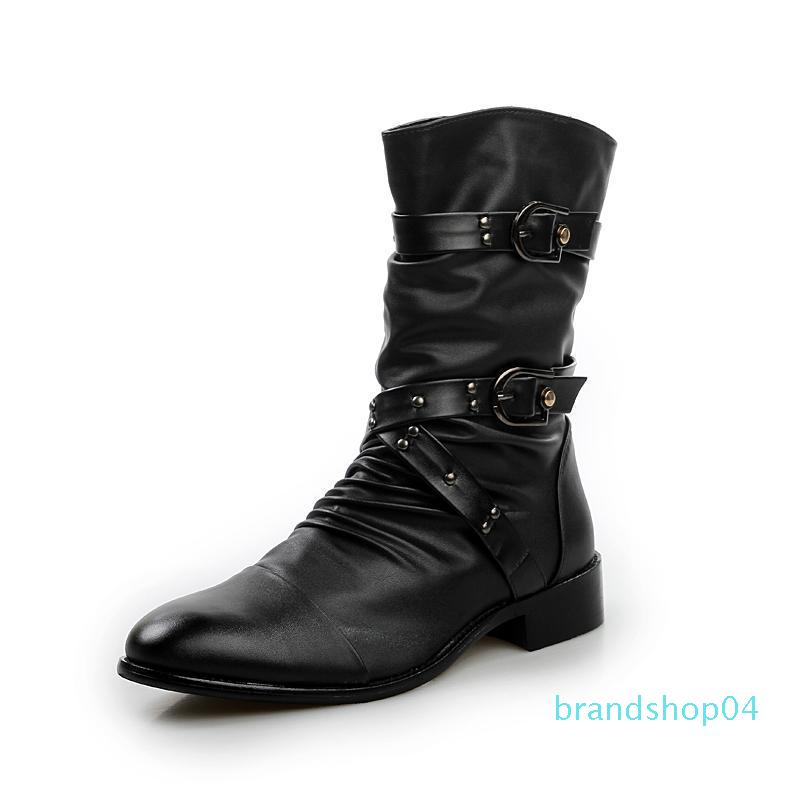 2019 new trend motorcycle boots England men's shoes pointed boots men's Korean version of the casual