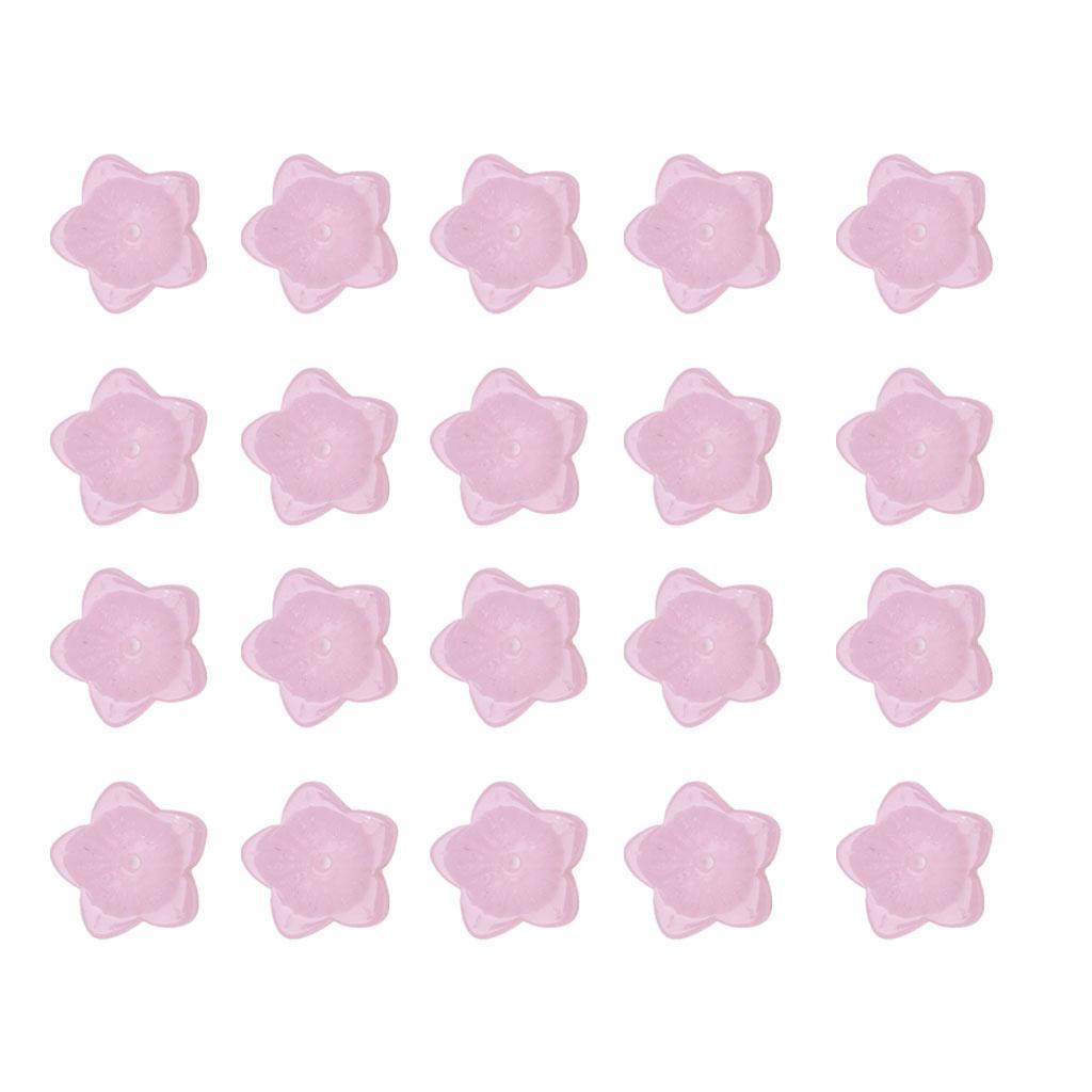 20pcs Cada rosa Pacote de vidro Checa Cap Beads Para fazer jóias DIY Acessórios