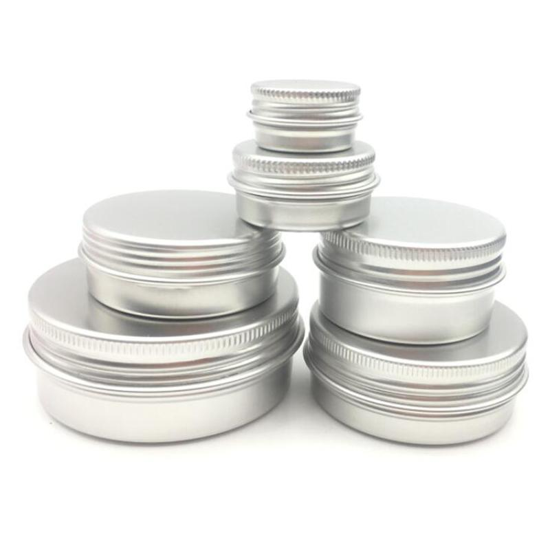 Los 50pcs 5g 10g 15g 20g 30g 40g 50g 60g Aluminium Gläser Kosmetik Make-up Creme Lip Gloss Metallaluminiumblechbehälter leeren