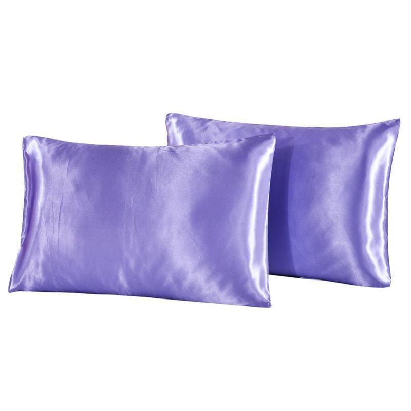 Federa per cuscino in cotone 2 pezzi Copricuscino in seta imitata satinata di colore bianco nero Un paio Federa US Twin Queen King Federa 25% DI SCONTO