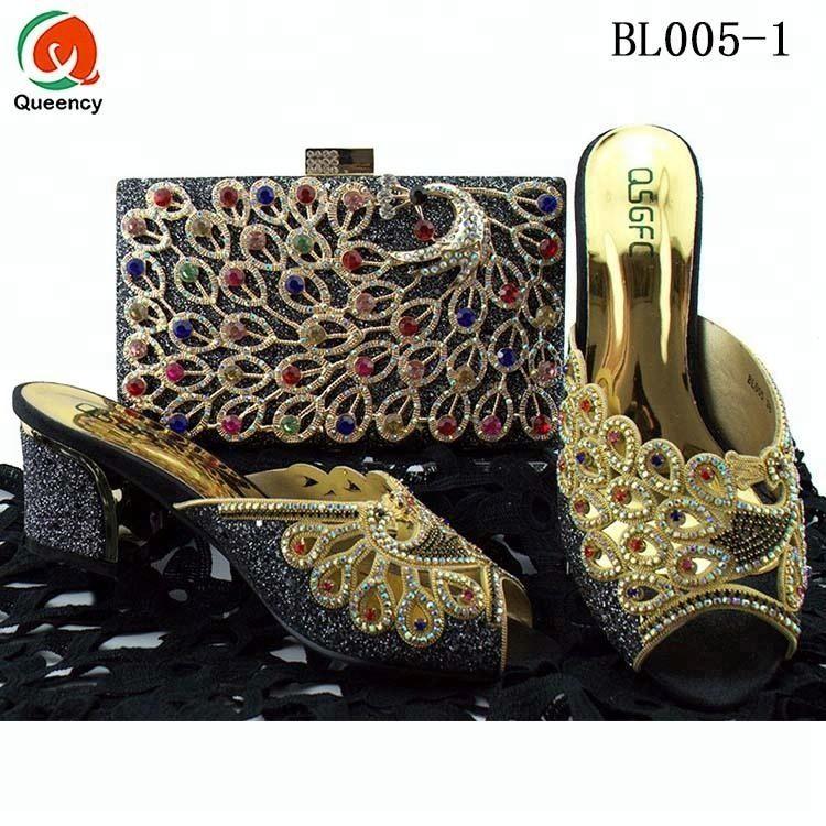 Dgrain Hochwertige Mode Großhandel Italienische Party Schuhe und Taschen für afrikanische Schuhe Großhandel