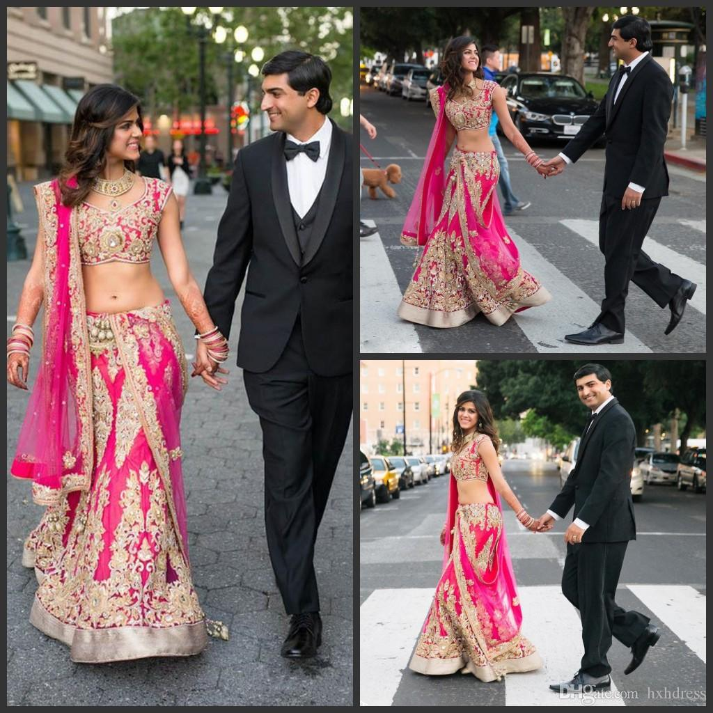 2019 new chic two pieces indian wedding dresses appliqued v neckline mermaid beaded bridal gowns floor length wedding dress with wrap backless wedding