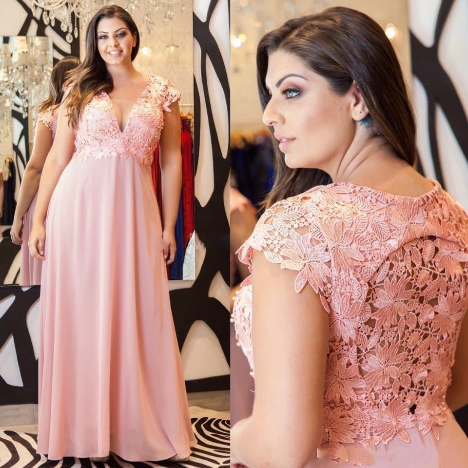 Setwell encolure en V A-ligne robes de soirée à manches courtes dos sexy en dentelle longueur de plancher de bal appliques Party Robes