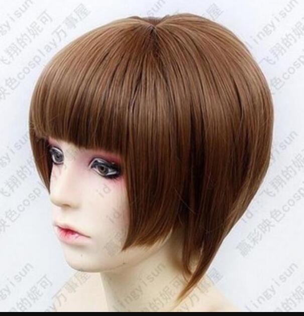 PERUK LL SıCAK Ücretsiz Nakliye YENI PASS Tsunemori Akane Kısa Kahverengi Cosplay Peruk Moda