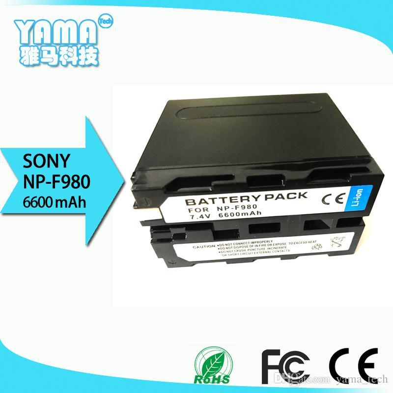 Appareil photo numérique caméscope Sony grande capacité 6600mAh pour Sony Np-F980 nouvelle batterie de décodage