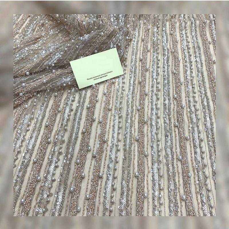 robes de mariée à la main exclusive de luxe et le soir tissu, brodé guipure, dentelle, perles et paillettes qualité coréenne