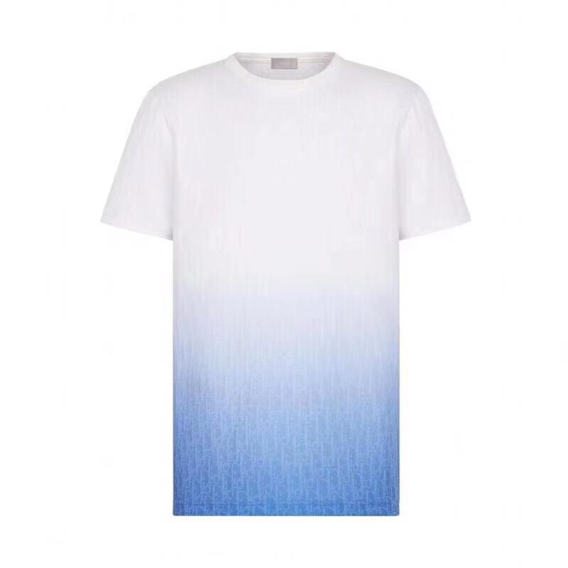 Delle Donne Allentato T-shirt Da Uomo T-shirt sfumatura di colore lettera di stampa t-shirt giovani studenti Nero Bianco t-shirts2020 nuovo tees AA5