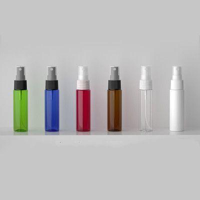 100pcs 30ml azul / blanco / aerosol claro / marrón PET botella de la bomba para el empaquetado cosmético, 30cc botellas vacías de plástico para la medicina líquida