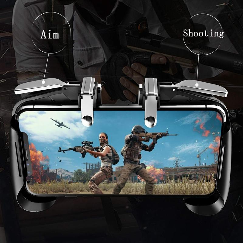 Mobile Game Controller(Upgrade Version),L1R1 And Gamepad For Pubg/Knives Out/Rules Of Survival, Mobile Gaming Joysticks For Andr
