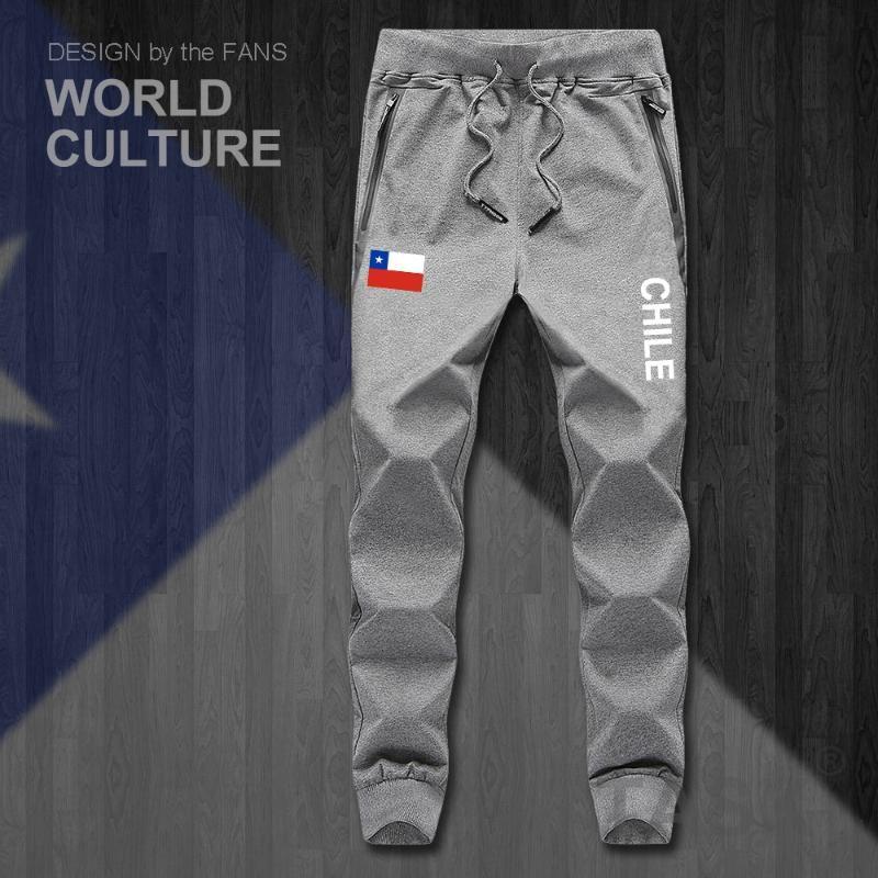 남성 바지 칠레 Cl Chl Chilean Mens Joggers Jumpsuit Sweatpants 트랙 땀 휘트니스 양털 전술 캐주얼 국가의 국가 다리
