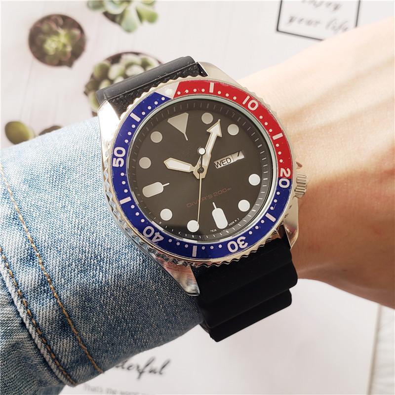 Reloj del silicón Deportes Los nuevos hombres de la manera con el automático de los hombres de lujo del reloj Fecha