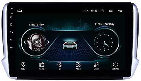 """안드로이드 9.0 쿼드 코어 10 """"자동차 비디오 플레이어 푸조 2008 2,014에서 2,016 사이 중앙 멀티미디어 세대 32G에 대한"""
