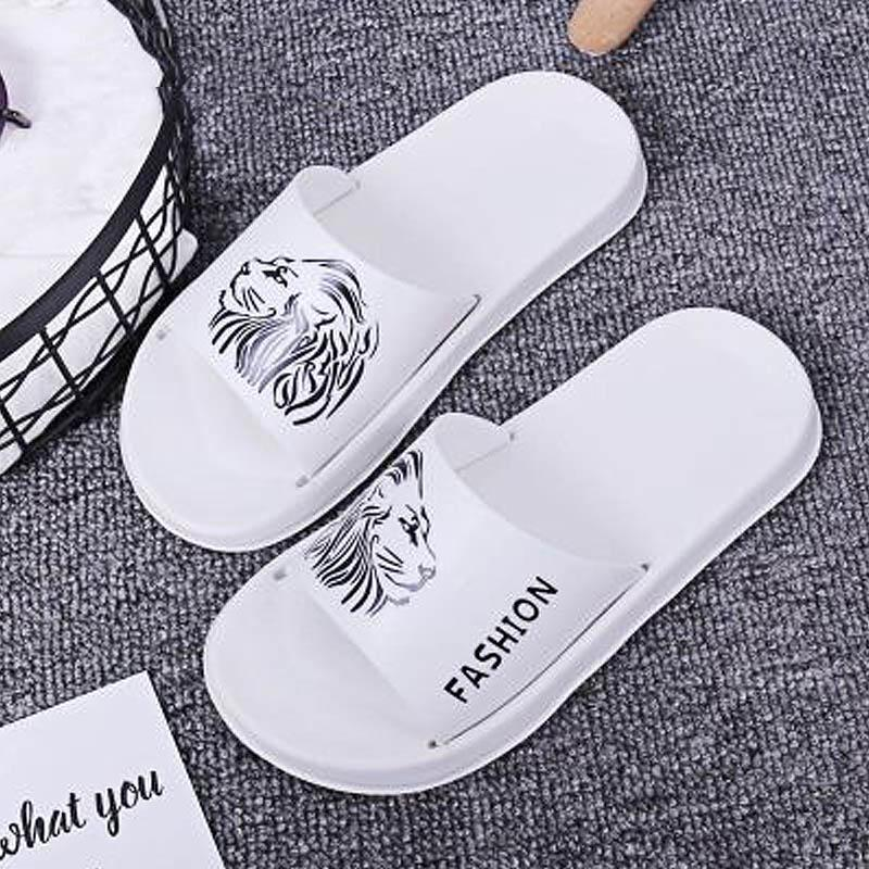Virar Impresso Tamanho Grande Casais Banho Chinelos Verão New animados Comfort EVA Slides de Mulheres Flops