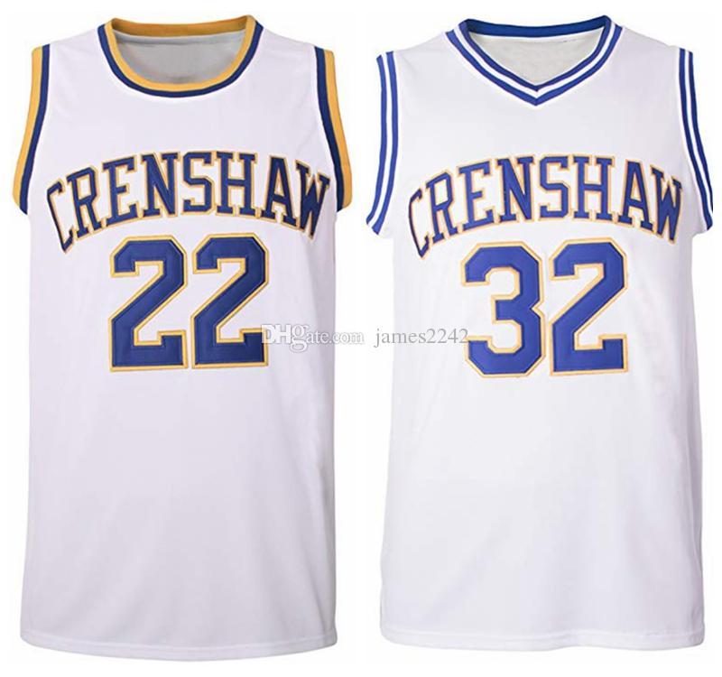 Navire de US Quincy McCall N ° 22 Monica Wright Basketball Jersey # 32 Crenshaw Love and Film cousue S-3XL de haute qualité