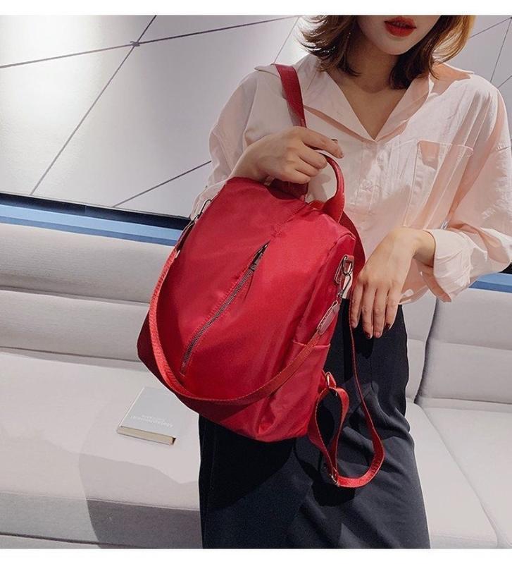 2020 новых дамы плеча сумки Корейских моды случайного простой Оксфорд стиль ткань колледжа большая емкость женщины рюкзака