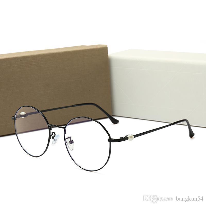 Nuove donne di stilista vintage occhiali Plain glass full frame modello CD0203 occhiali di protezione di alta qualità con scatola originale