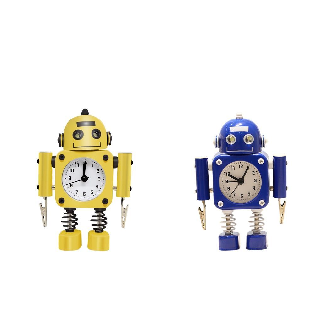2ST Silent-Roboter Wecker Kinderzimmer Büro Tabletop Wake-up Clock Arts