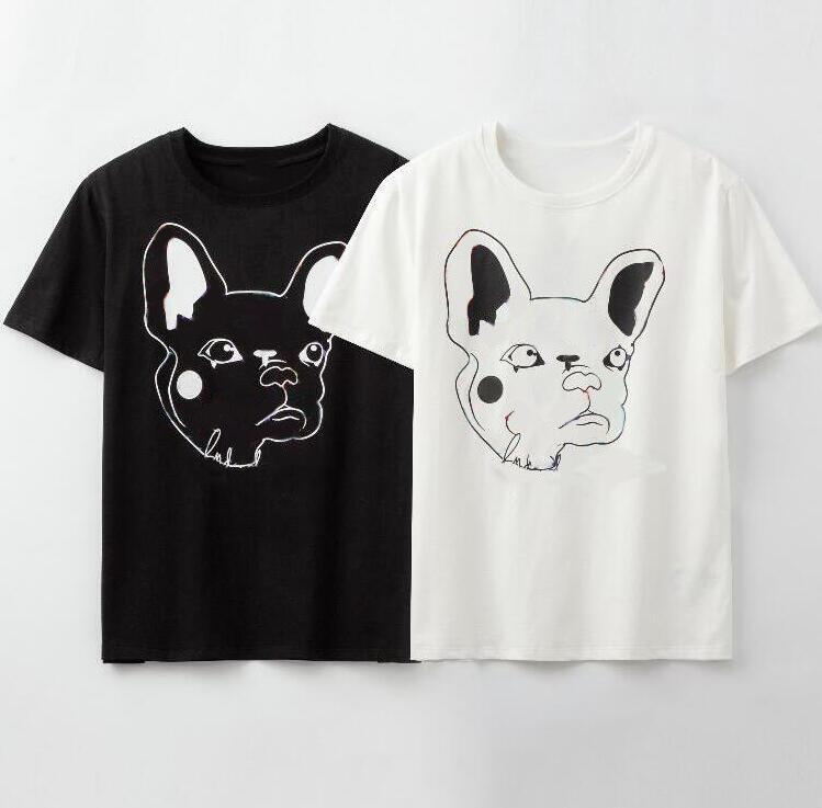 20SS летние дизайнерские футболки для мужчин футболки с буквами животных модный бренд футболки Мужчины Женщины пара топы высокое качество