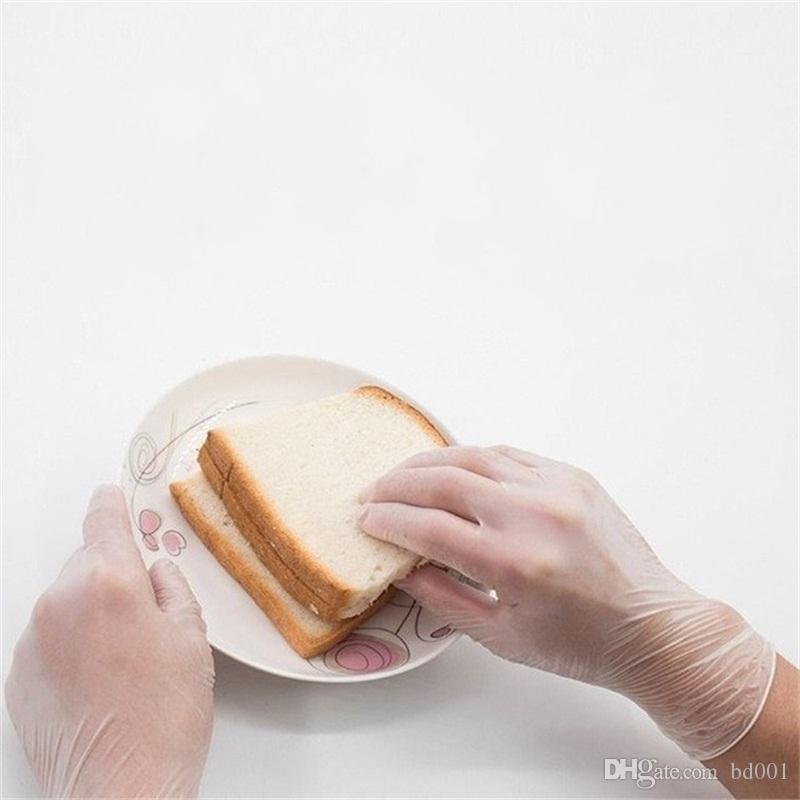 Einweg-Schutzhandschuhe Sicherheit PVC puderfrei Klar Eindickung Einweg-Handschuh-Küche Fäustlinge Factory Direct 0 23 E1