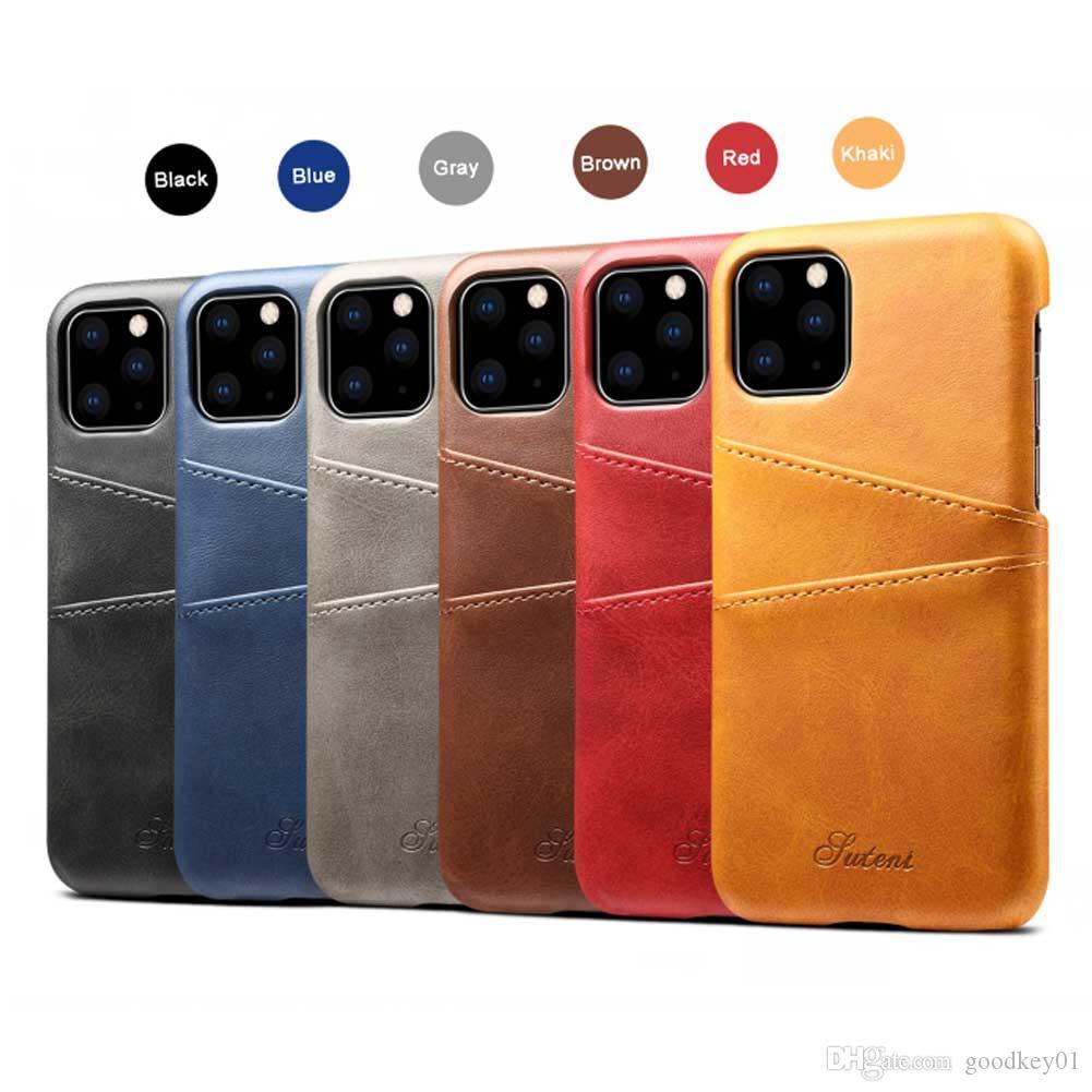 للحصول على 11 حالة برو 5.8 الهاتف مع بطاقة Solt حقيبة جلد فاخرة للحصول على هاتف اي فون 11Pro 5.8 11 6.1 11Pro MAX 6.5 حالة