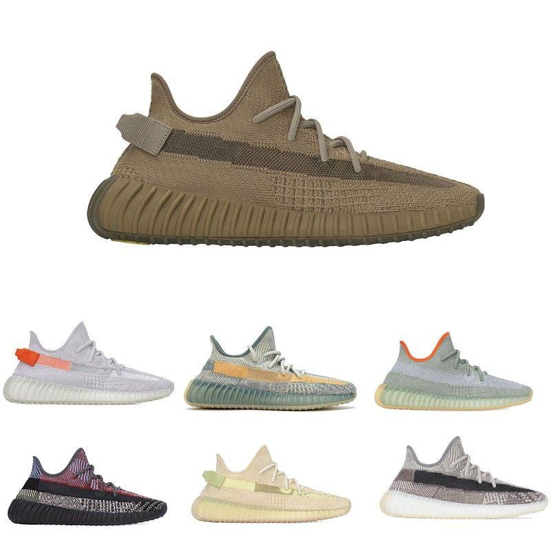 Venta caliente de la Tierra Kanye West zapatillas Bred cola Zebra Light lino Cinder Desert Sage crema blanca Hombres Mujeres zapatos para correr envío