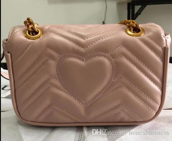 2018 designer de moda mulheres bolsas cadeias de PU de couro bater sacos de ombro saco de bagagem corpo cruz vagabundos saco bolsa 22x14x7cm