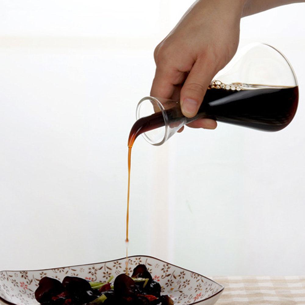 500ml / 250ml / 125ml Cam Zeytinyağı Şişe Kaçak geçirmez Yağ Sirke Soya Sosu Baharatlık Pot İçin Mutfak Malzemeleri 1pc Damlası