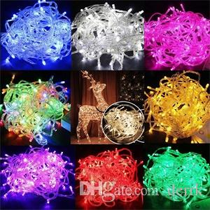 Stringhe a LED Luci di Natale vendita pazza 10M / PCS 100 stringhe a LED Decorazione 110V 220V luce per feste di nozze a led illuminazione per feste 3224