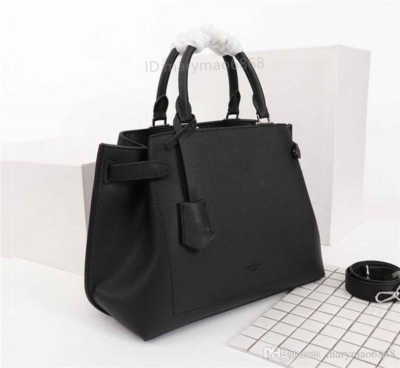 Bolsos de lujo diseñador de cuero auténtico mensajero de las mujeres del bolso de hombro bolsa de Toto portátil Azul Negro size32.5 * 14.5 * 23cm bolsos M53645 M53730