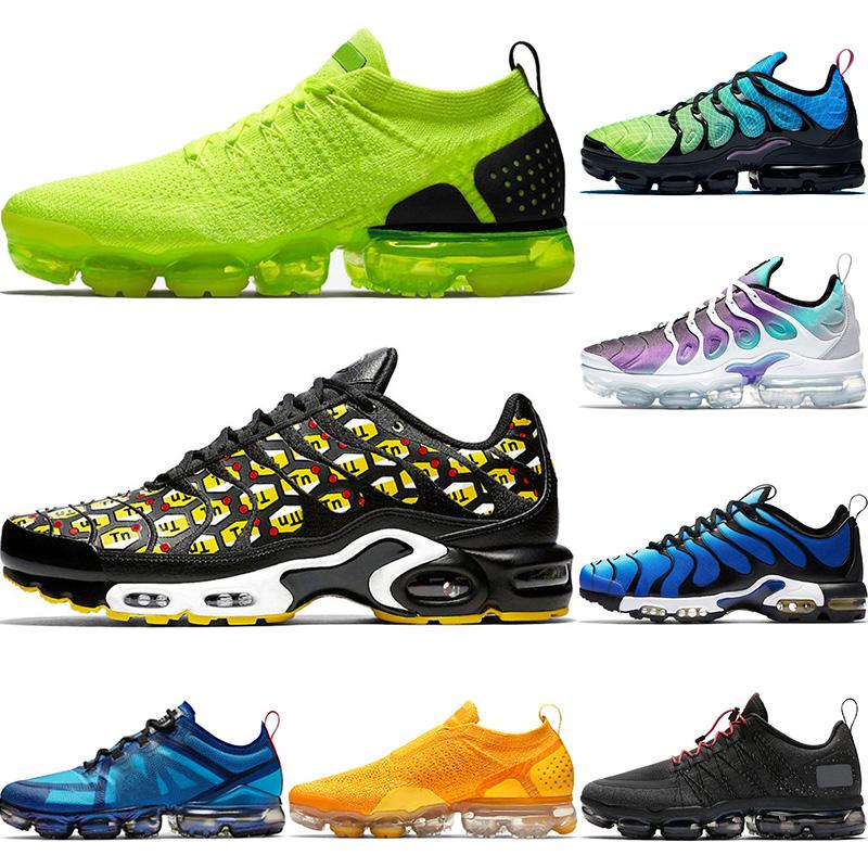 FLY KNIT MOC 2 Fashion Tn Plus SE Running Shoes Volt Grey All Over Print Black University Gold Aurora Green Mens Womens Trainers