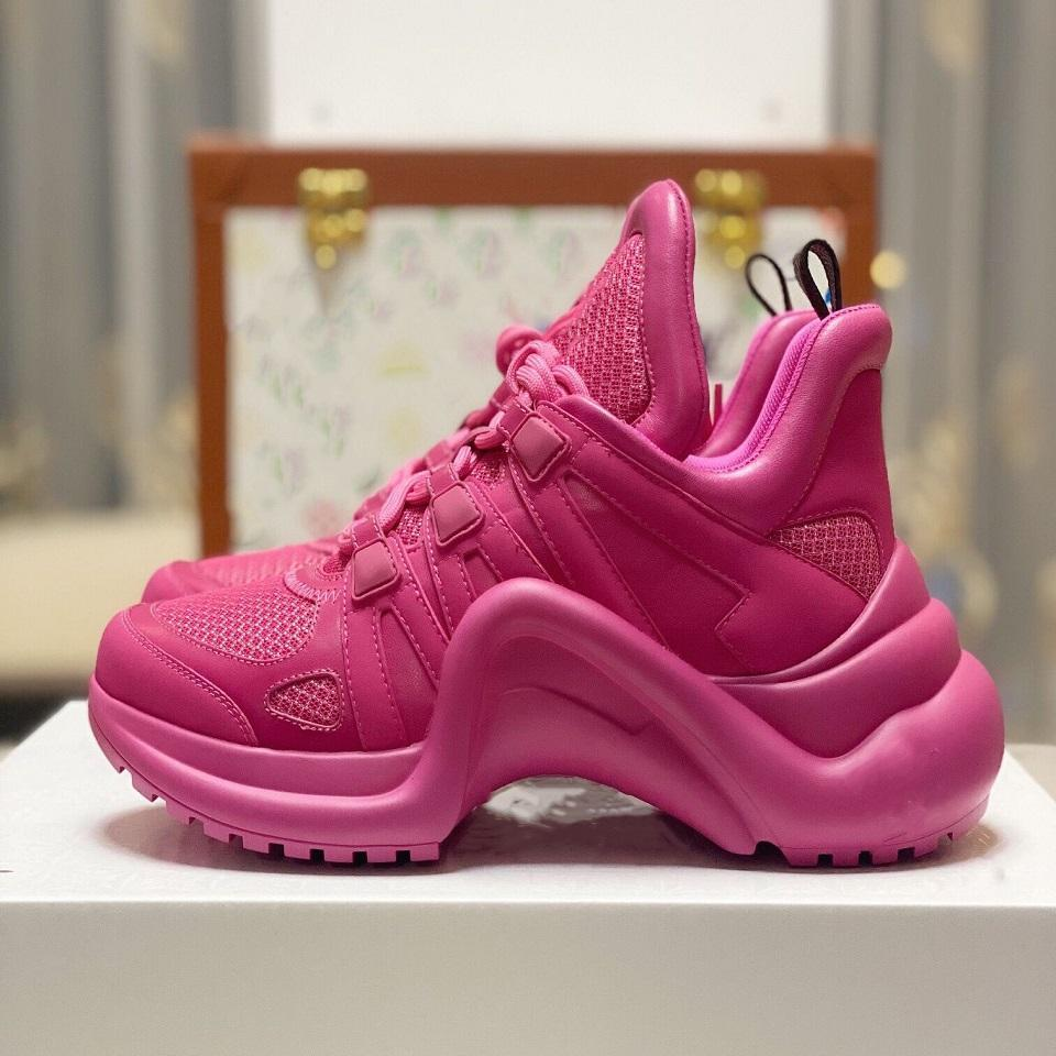Archlight Sneaker Designer Hommes Chaussures Femmes Chaussures plateforme Chaussures Casual Mid Top en cuir de luxe Archlight Chaussures ROSE ROUGE BLEU
