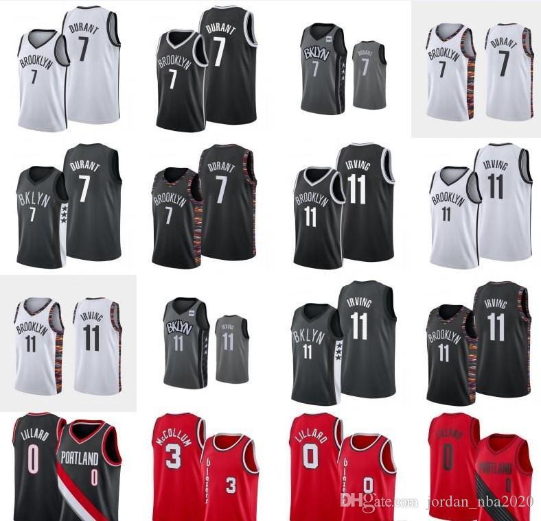 Kevin 7 Kyrie 11 Durant NCAA Irving Jersey Damian 0 CJ Lillard McCollum College Basketball Jersey
