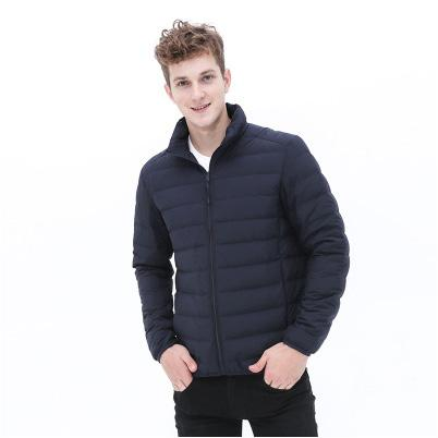 Mode homme veste vers le bas sans coutures Garçons Hommes Casual col montant style sport Vêtements de haute qualité hommes tendance Parkas gros