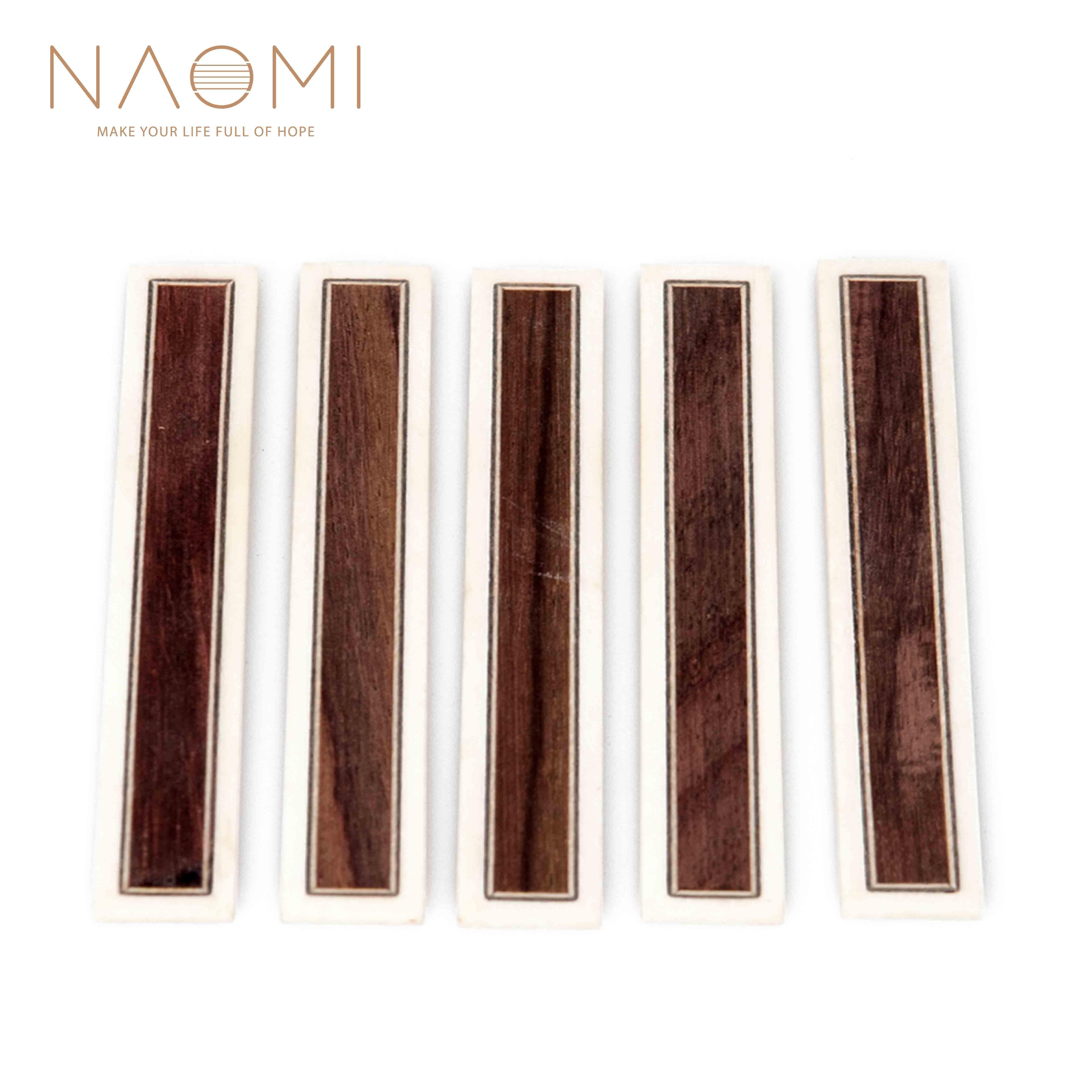 NAOMI 5 개 세트 클래식 기타 브릿지 타이 블록 인레이 뼈 프레임 시리즈 기타 부품 NA - 21 신품