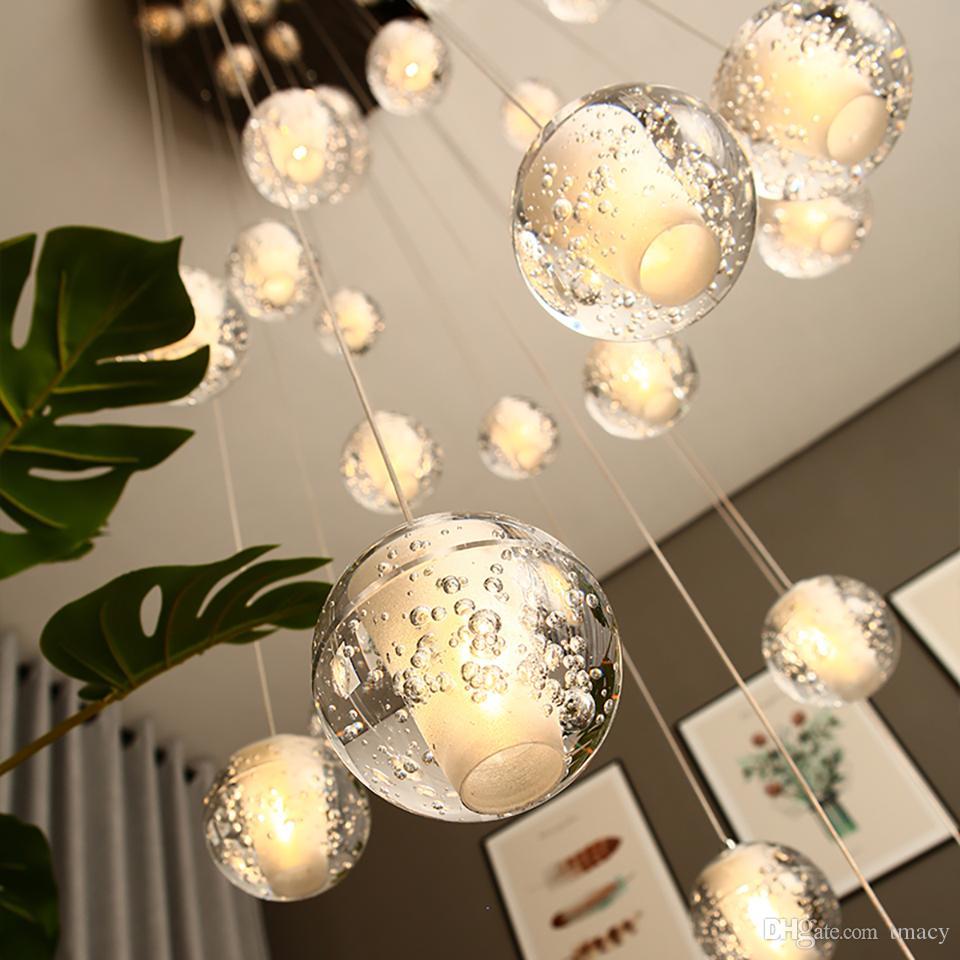 LED Kristal Cam Topu kolye Meteor Yağmur Tavan Işık Meteorik Duş Merdiven Bar Droplight Avize Aydınlatma AC110-240V