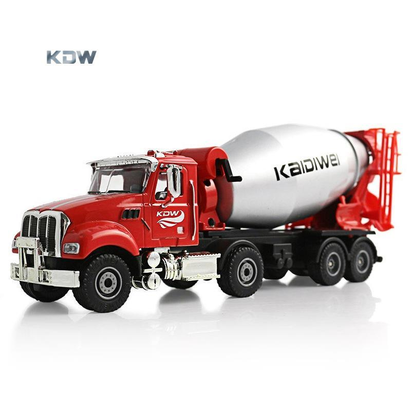 KDW Diecast Alloy Cement Mixer Model Toy, Concrete Truck, 1:50 Engineering Vehicle, Ornament for Xmas Kid Birthday Boy Gift, Collecting, 2-2