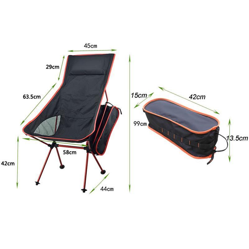 yığın Plaj Sandalyeler Portatif Katlanabilir Ay Sandalye Balıkçılık Kamp Barbekü Tabure Katlama Yürüyüş Koltuk Bahçe Ultralight Açık Sandalye Extended ...