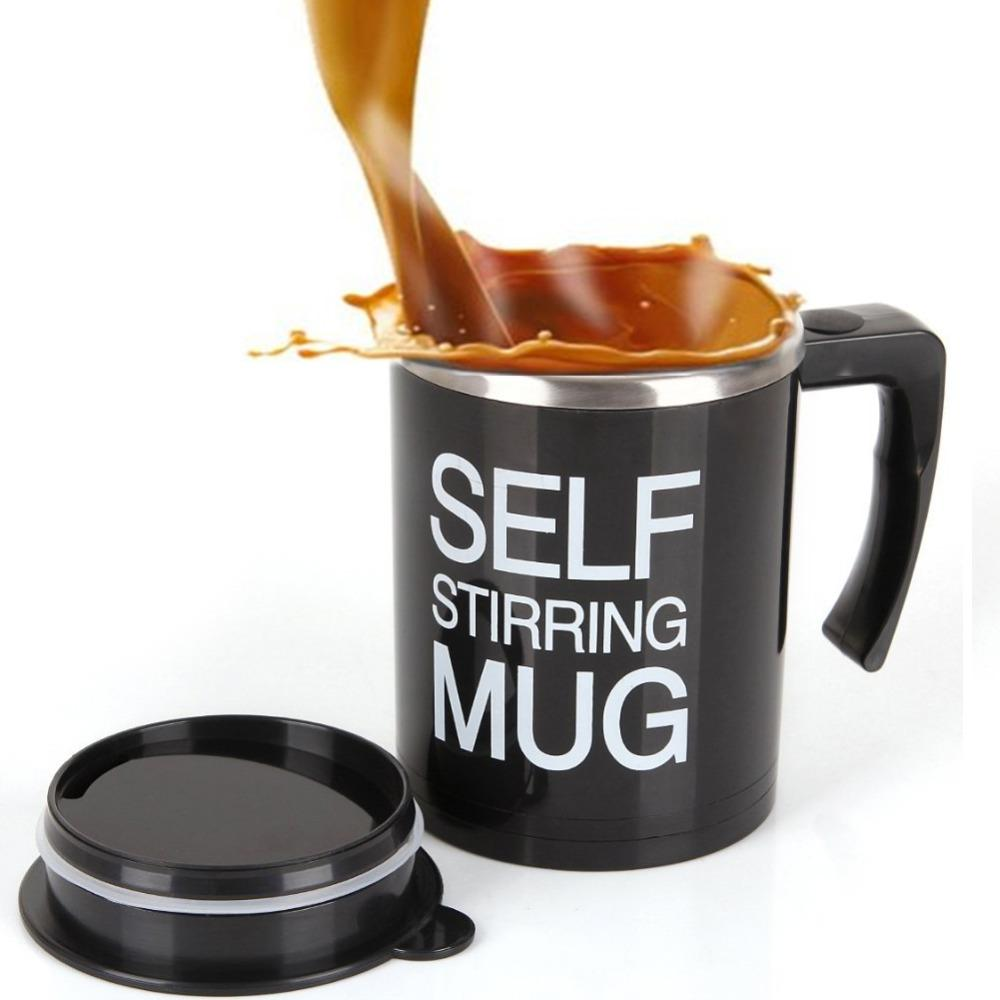 Upgraded Self Stirring Mug With Stainless Steel Inner Tank 400ml Creative Coffee Mug With Lid Electric Auto Mixing Milk Tea Tall Mugs For Coffee Tea And Coffee Mugs From Qygw Home 26 62 Dhgate Com
