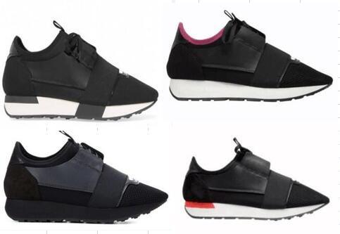 Balenciaga Hommes Femmes Arena baskets coureur de course chaussures de sport en cuir couture amants modèles chaussures peuvent être personnalisés