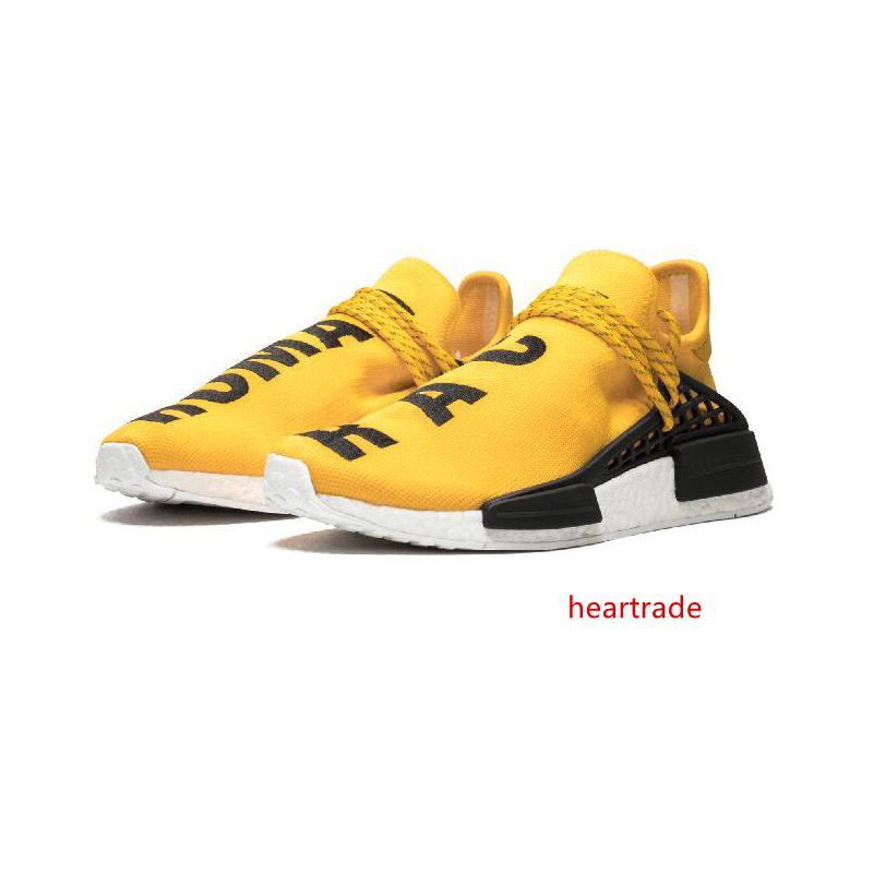 İnsan ırkı Hu izi x pharrell williams Güneş Paketi Afro Holi Blank Canvas erkek eğitmenler kadın spor sneaker koşu ayakkabıları erkekler