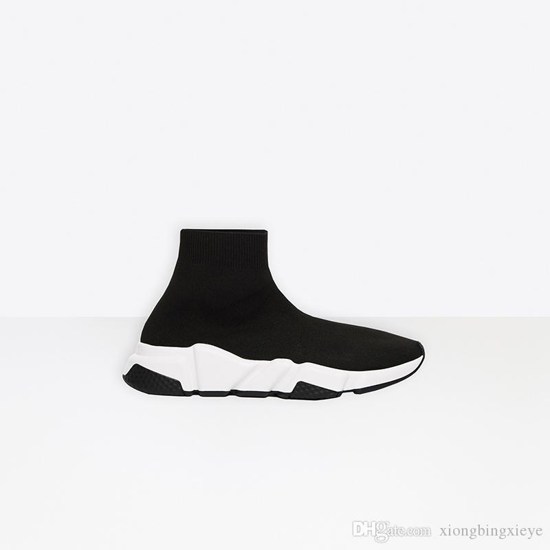 2020 concepteur luxe chaussures chaussettes bon marché chaussures de sport mode chaussures pour hommes noirs de la mode et des femmes en cours d'exécution chaussures plate-forme