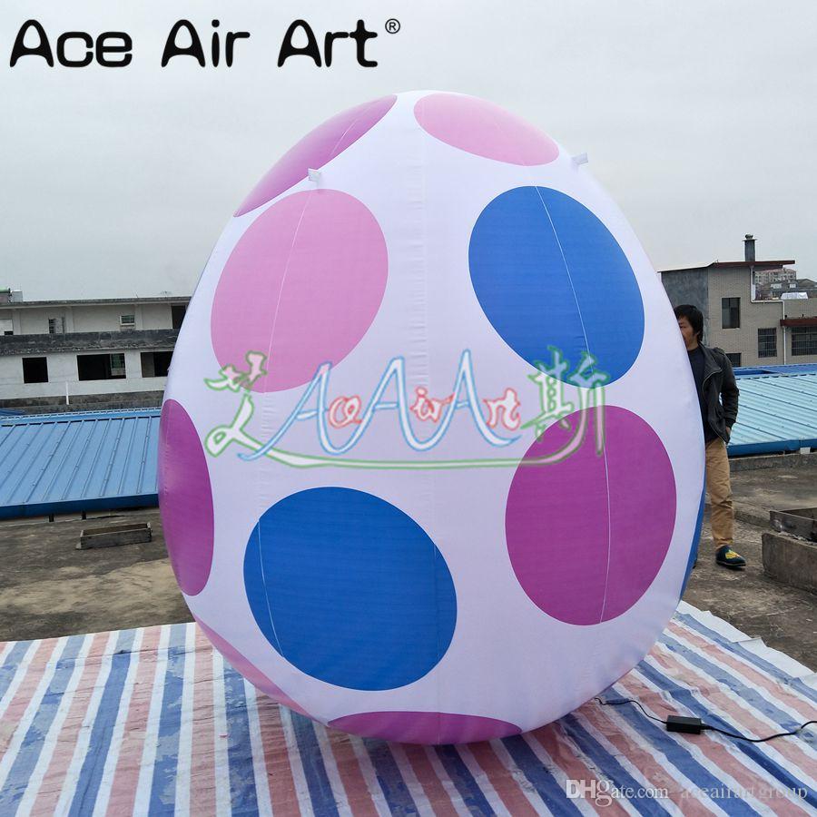 Happy Easter celebration decoração ovos insufláveis com logotipo colorido para venda