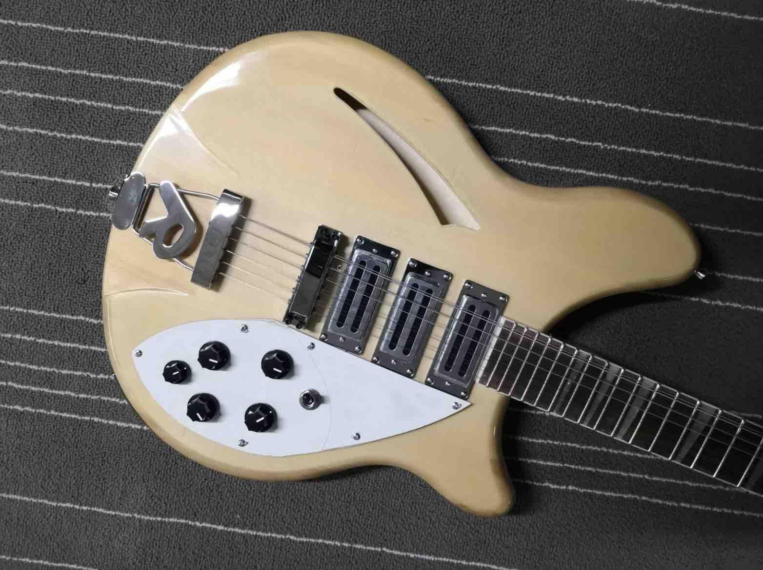 China Custom Made Classic model 370 12 Strings in natural Top flame maple body Electric Guitar Free Shipping