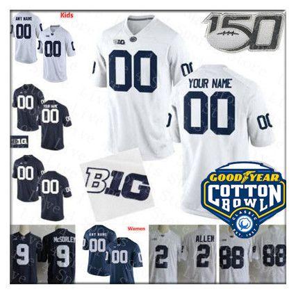 2019 Cotton Bowl Penn State Nittany PSU universitario Maglia Football Barkley Micah Parsons KJ Hamler Scott Hamilton Caino Clifford Ford Donna Bambino