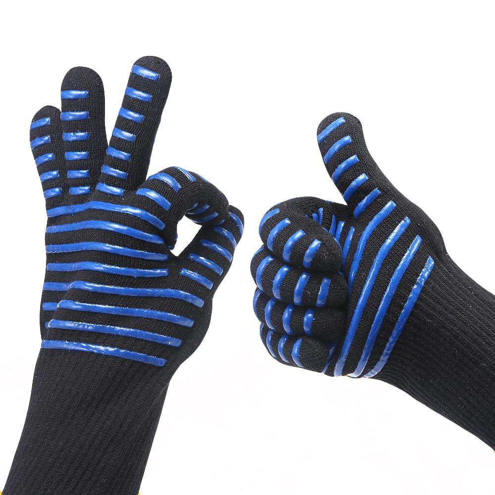 Yüksek sıcaklık eldiven fırın Barbekü Unisex karşıtı haşlanma Pişirme 5.23 kaplar karşıtı haşlama mikrodalga fırın barbekü eldiven yalıtkan