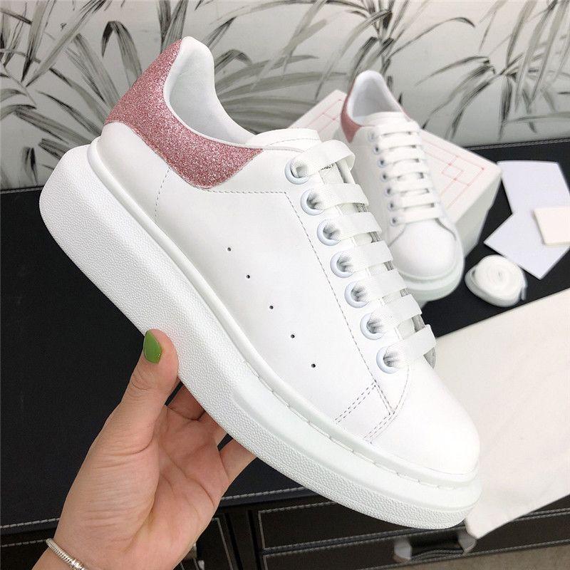 الرجال والنساء الاحذية أحذية رياضية البحتة لون الجلد المدبوغ مضيئة فاخر اللباس مصمم أحذية خفيفة الوزن منصة المدربين أحذية رياضية