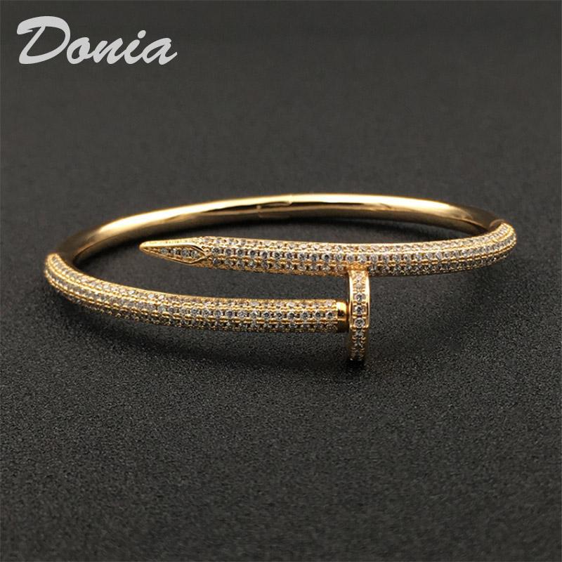 Donia Schmuck Partei der europäische und amerikanische Art und Weise Große klassische Micro Intarsien Zirkonia Zirkonia Armband Damen-Armband