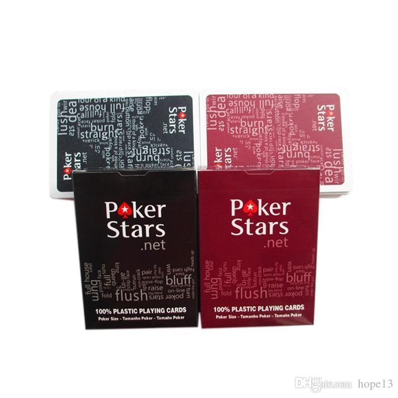 Rot / schwarz texas holdem plastikspielkarte spiel poker karten wasserdichte und dumme polnisch poker sternbrettspiele