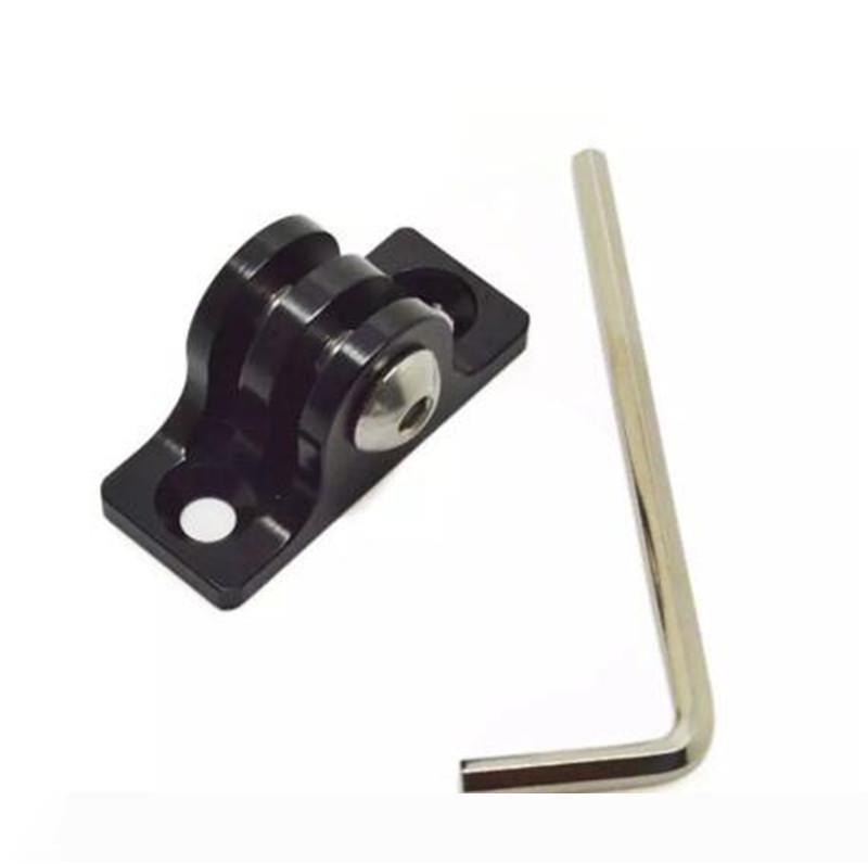 블랙 알루미늄 합금 평면 바닥 마운트 어댑터 +의 18mm 나사 + 렌치 도구 세트 야외 스포츠 수정 액세서리 키트